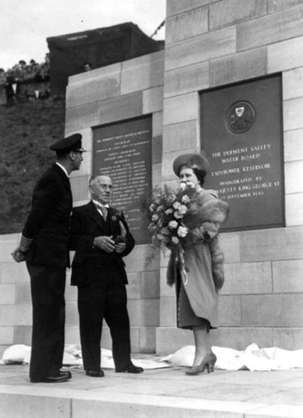King George VI, accompanied by Queen Elizabeth, formally opened the reservoir on 25 September 1945. Did the King make a speech that day I wonder!