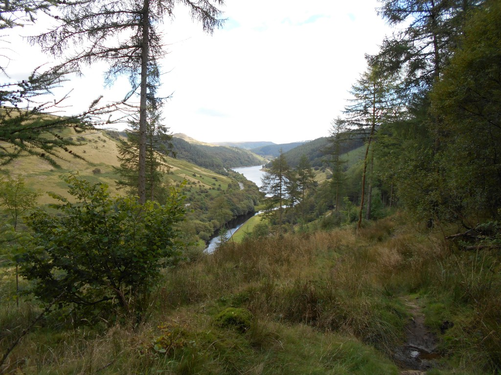 The view back to Ladybower on the way up to the Roman road at Hope Cross, via Elmin Pitts abandoned Farmstead.