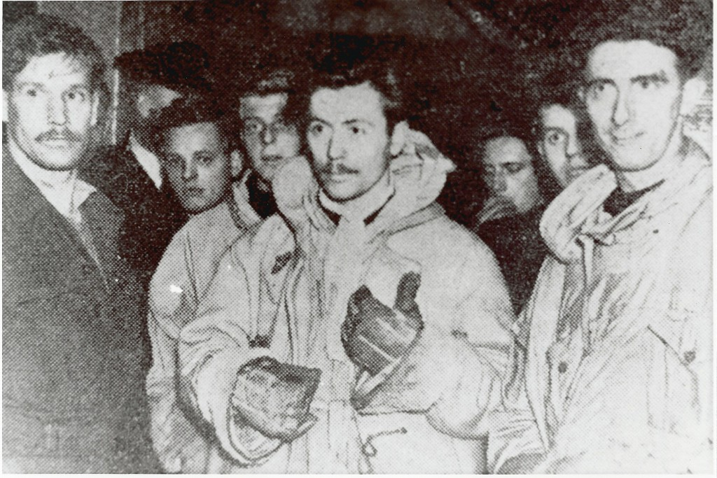 Members of the RAF MRT after the search for the Super Fortress - Corp. W Duthie and Flight-Sergeant G. Thompson tell of their search.