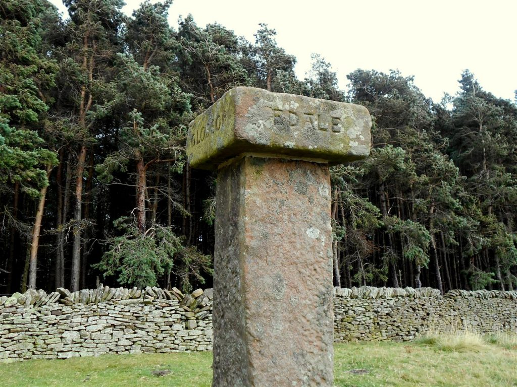 Hope Cross which stands on a former Roman road on the crossroads of an important packhorse rout